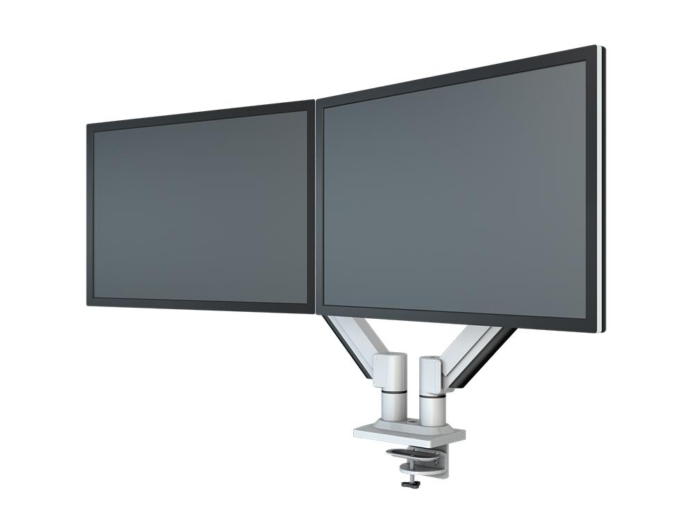 Hvordan kan du hekte 4 skjermer